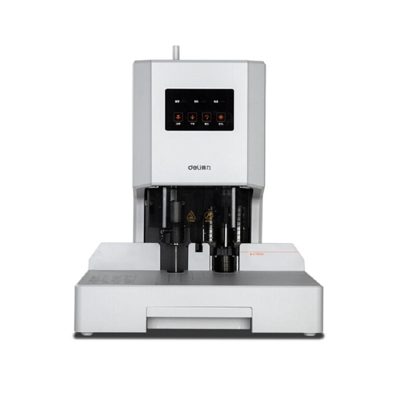 得力(deli) 14608 自动财务凭证装订机 电动档案文件打孔机 可装订35mm