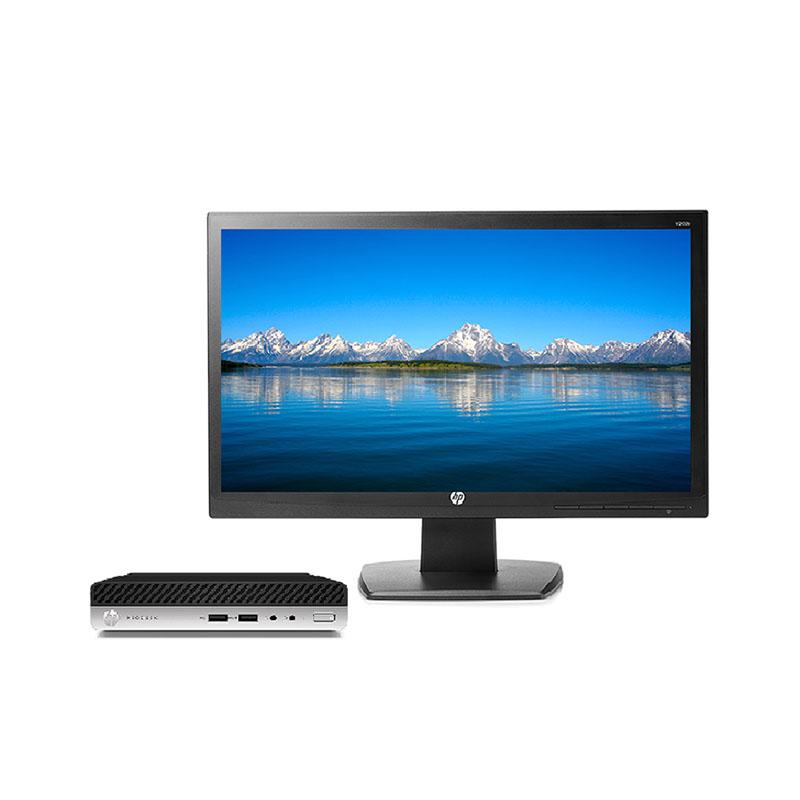 HP 400 G3 DM  home版 办公迷你台式机(带19.5英寸显示器)