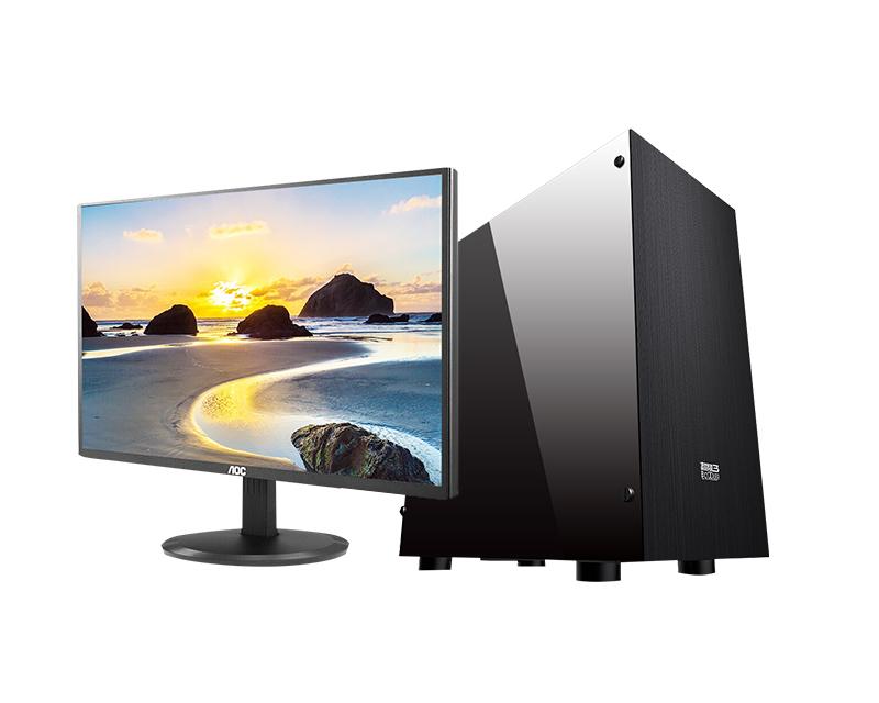 A9 9700/120G SSD前台/财务办公台式机 (20.7寸显示器)