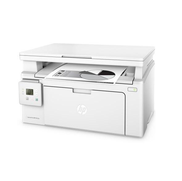 惠普LaserJet Pro MFP M132nw 黑白激光 复印/打印/扫描 打印一体机